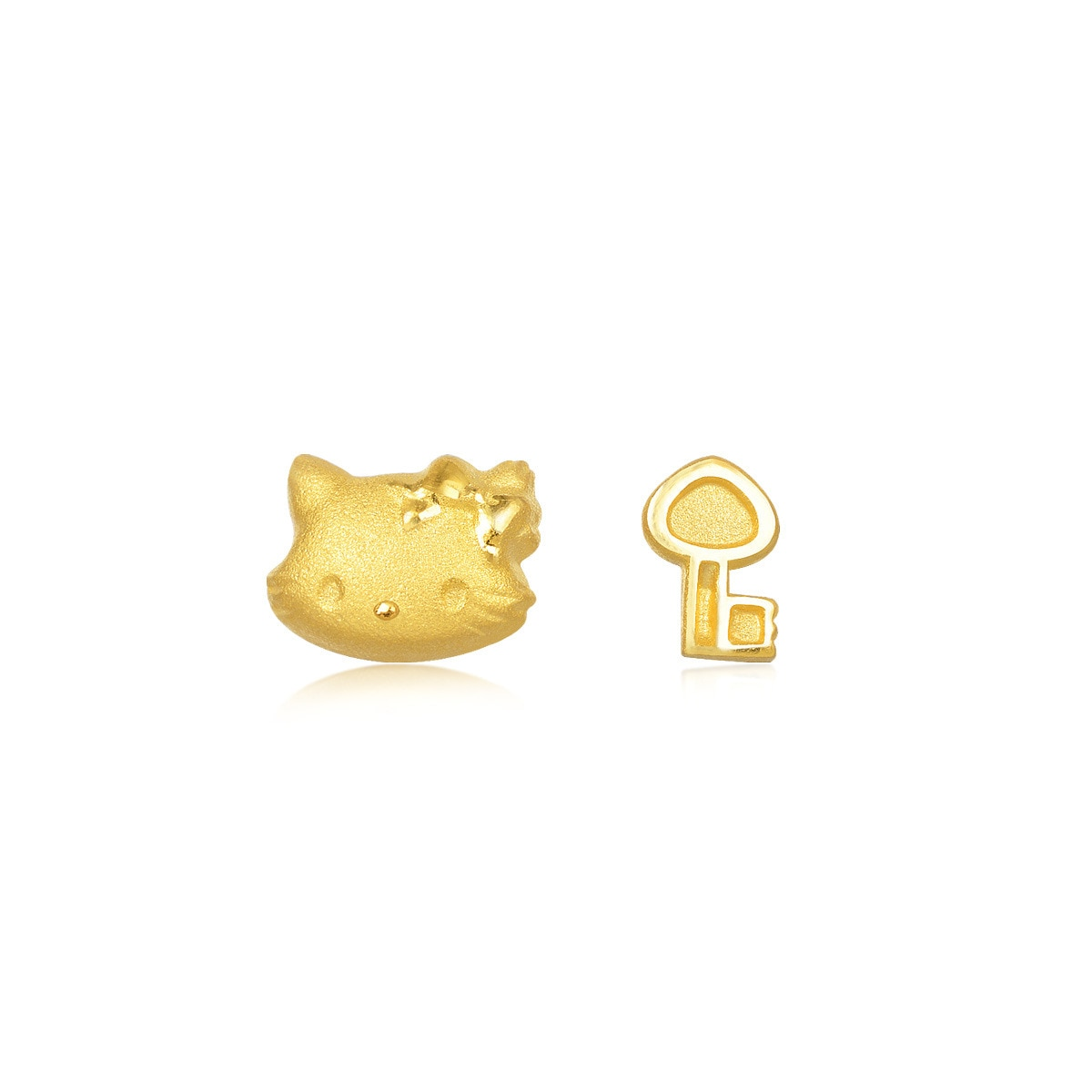 sanrio charmmy kitty 9999 gold earrings chow sang