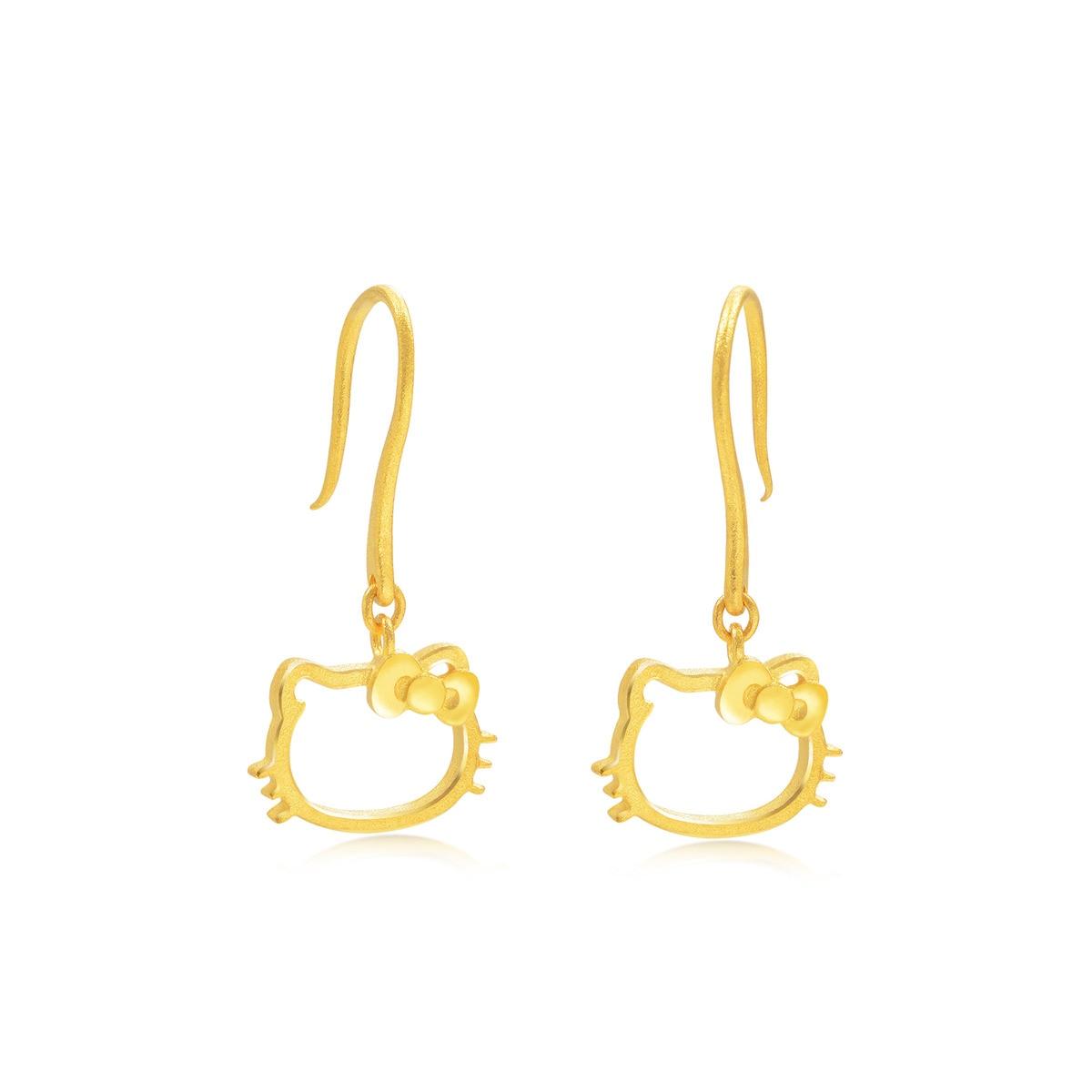 Sanrio \'Hello Kitty\' 999.9 Gold Earrings | Chow Sang Sang ...