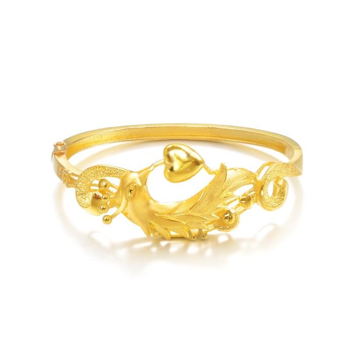eshop product wedding design dragon  phoenix bangles chinese collection