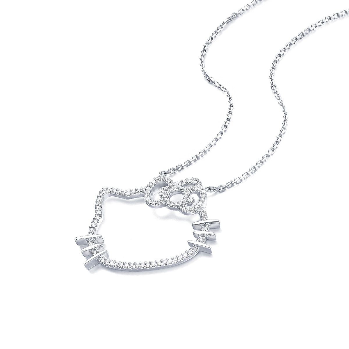 Sanrio hello kitty 18k gold diamond necklace chow sang sang loading zoom mozeypictures Gallery