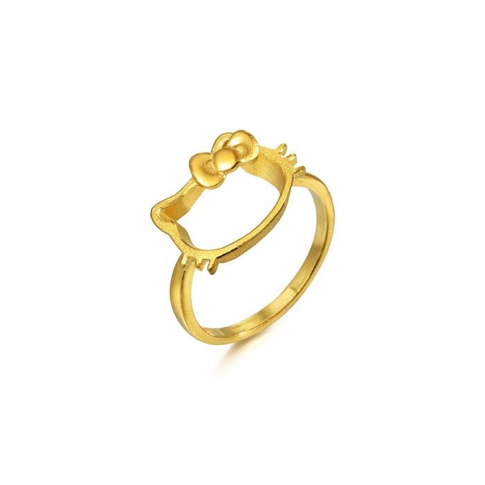 sanrio hello kitty 9999 gold ring chow sang sang