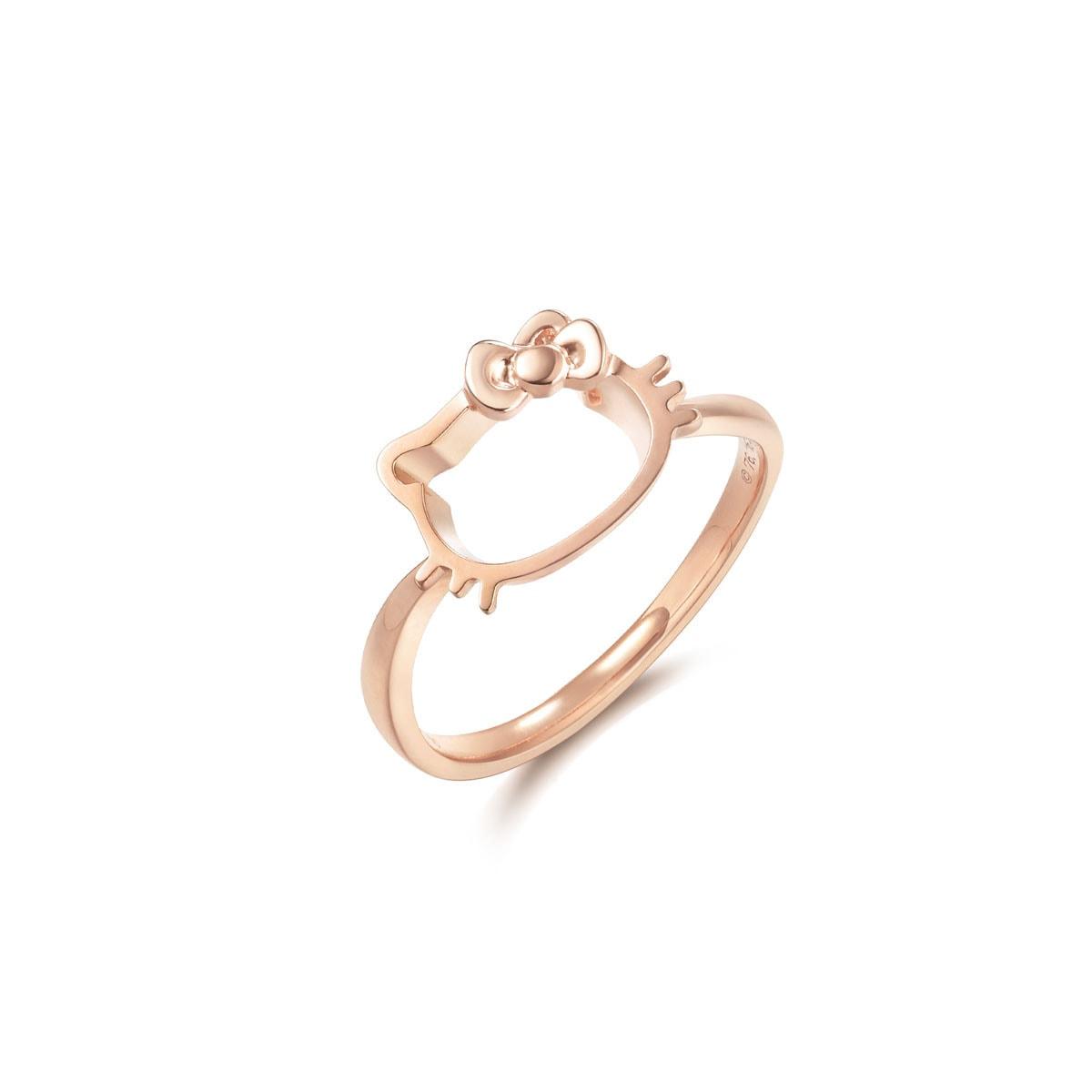 sanrio hello kitty 18k gold ring chow sang sang