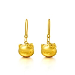 Sanrio Hello Kitty 18k Gold Earrings Chow Sang Sang Jewellery Eshop
