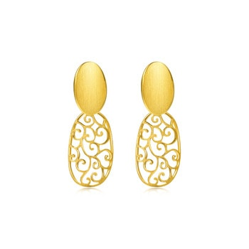 c601d7ec76b012 Online Exclusive. New. Best Seller. Chinese Wedding Collection.  'Contemporary' 999.9 Gold Earrings