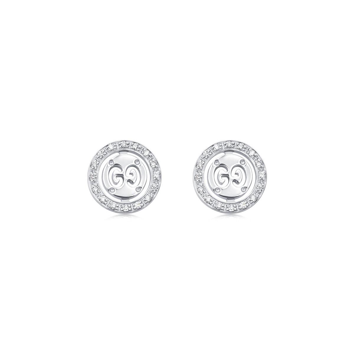 adc1b39ef5a Gucci  Icon Twirl  18K Gold Diamond Earrings.  14
