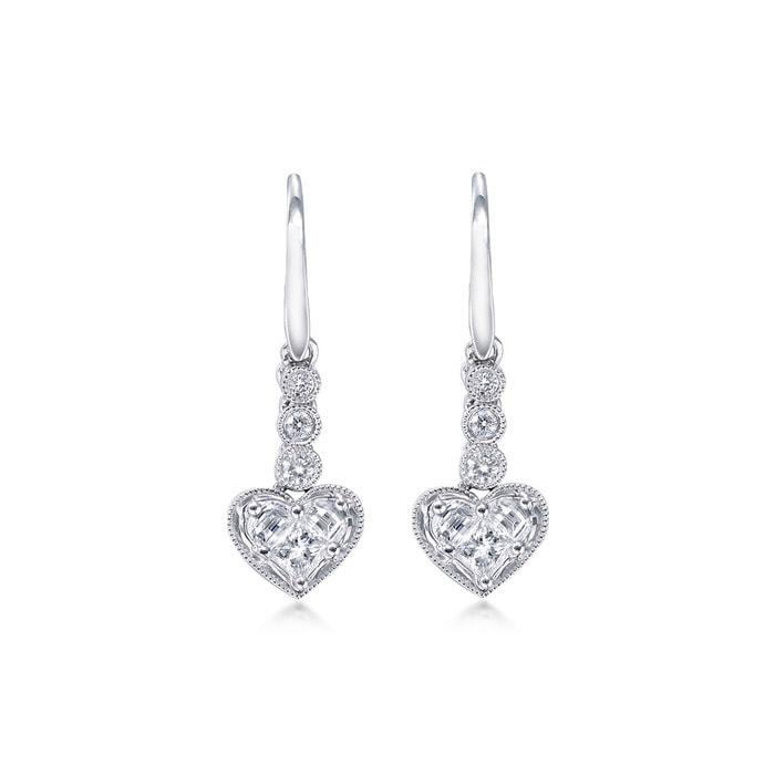 'Pure' 18K Gold Diamond Earrings