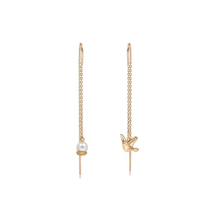 18K Gold Freshwater Pearl Earrings