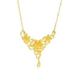 'Floral' 999.9 Gold Necklace