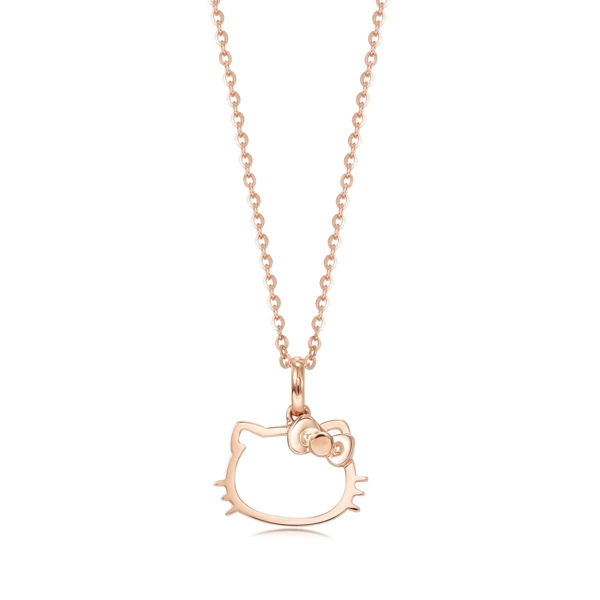 Sanrio hello kitty 18k gold pendant chow sang sang jewellery eshop loading zoom mozeypictures Image collections