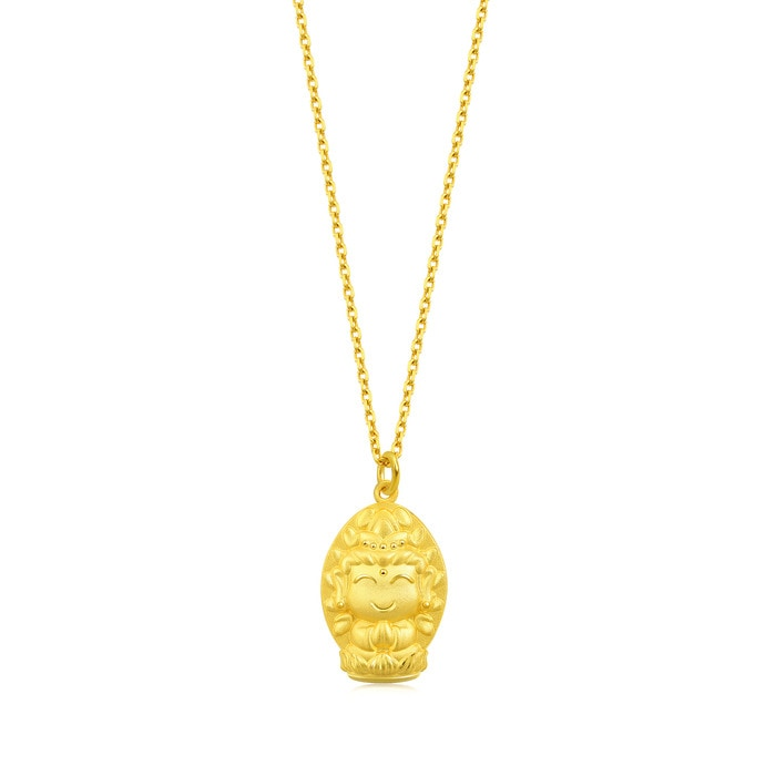 'Fate with Buddha' 999.9 Gold Pendant