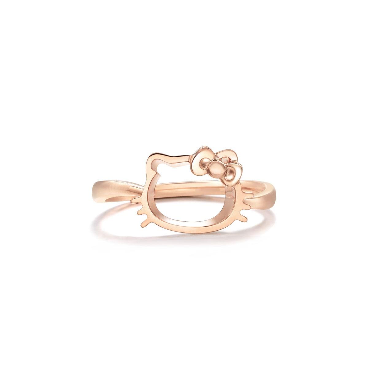 Sanrio Hello Kitty 18k Gold Ring Chow Sang Sang Jewellery Eshop