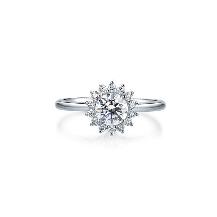 'Starry' 18K White Gold Diamond Ring