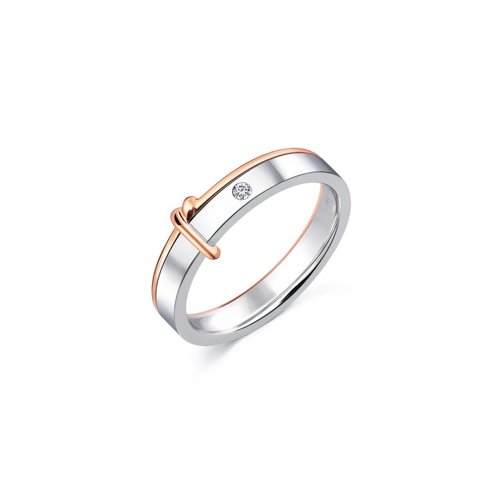 18K Gold Diamond 'Love Knot' Ring