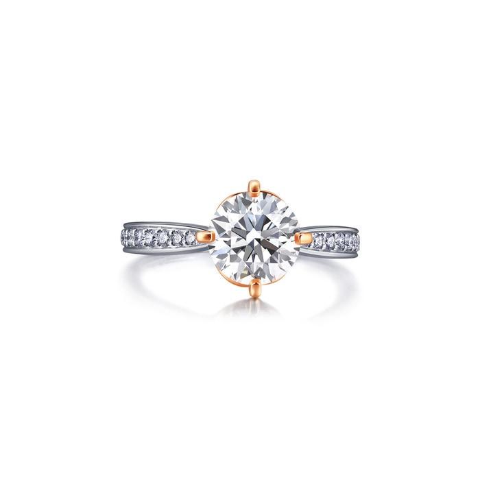 18K黃金鑽石戒指